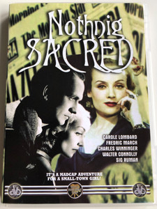 Nothing Sacred DVD 1937 / Directed by William A. Wellman / Starring: Carole Lombard, Fredric March, Charles Winninger, Walter Connolly (798622313225)
