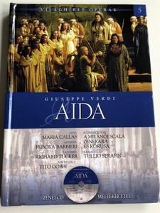 Giuseppe Verdi - Aida by Alberto Szpunberg / Teatro Alla Scala Milano Orchestra & Chorus / Conducted by Tullio Serafin / With Audio CD / Világhíres Operák sorozat 5. / Hardcover / Kossuth kiadó (9789630968522)