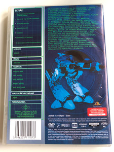 Robocop 1987 DVD Robotzsaru / Directed by Paul Verhoeven / Starring: Peter Weller, Nancy Allen, Daniel O'Herlihy, Ronny Cox, Kurtwood Smith, Miguel Ferrer / Extra változat (5996255711073.)