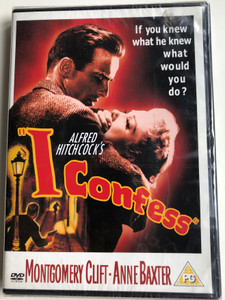 I Confess DVD 1953 / Directed by Alfred Hitchcock / Starring: Montgomery Clift, Anne Baxter, Karl Malden, Brian Aherne (7321900318631)