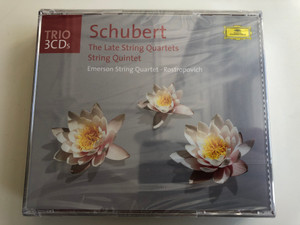 Schubert – The Late String Quartets, String Quintet / Emerson String Quartet, Rostropovich / Trio 3 CDs / Deutsche Grammophon 3x Audio CD / 477 045-2
