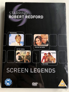 Screen Legends - Robert Redford DVD 2006 The Natural (1984), The Way we were (1973), Out of Africa (1985), The Sting (1973) / Starring Robert Redford, Barbara Streisand, Paul Newman, Meryl Streep (5050582428308)