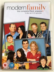 Modern family DVD 2010 4 Disc Set The Complete first season - 24 episodes / Created by Christopher Lloyd, Steven Levitan / Starring: Ed O'Neill, Sofía Vergara, Julie Bowen, Ty Burrell Jesse, Tyler Ferguson (5039036044554)