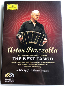 Astor Piazzolla in conversation and in concert DVD 2007 The Next Tango / Directed by José Montes-Baquer / Astor & his Quintet - Alvaro Pierri Guitar, Das Kölner Rundfunk-Orchester / Conducted by Pinchas Steinberg (044007343197)