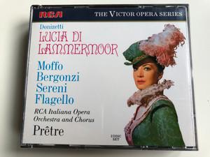 Donizetti - Lucia Di Lammermoor / Moffo, Bergonzi, Sereni, Flagello, RCA Italiana Opera Orchestra And Chorus, Prêtre / The RCA Victor Opera Series / RCA 2x Audio CD / GD86504(2)