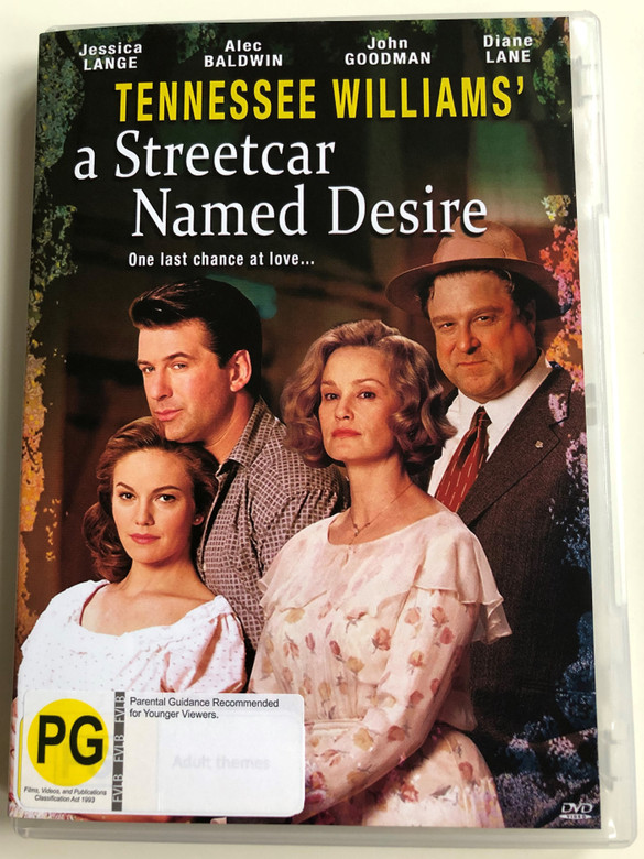 A streetcar named desire DVD 1951 Once last chance at love / Directed by Elia Kazan / Starring: Jessica Lange, Alec Baldwin, John Goodman, Diane Lane / Written by Tennessee Williams (9337369013114)
