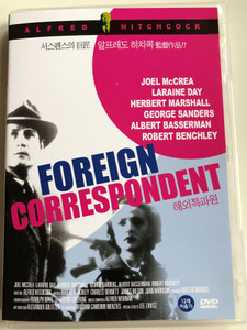 Foreign Correspondent DVD 1940 / Directed by Alfred Hitchcock / Starring: Joel McCrea, Laraine Day, Herbert Marshall (8809116454194)