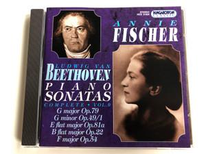 Annie Fischer - Ludwig van Beethoven – Piano Sonatas Complete Vol. 9: G Major Op. 79, G Minor Op. 49/1, E Flat Major Op. 81a, B Flat Major Op. 22, F Major Op. 54 / Hungaroton Classic Audio CD 1998 Stereo / HCD 31634