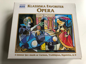 Klassiska Favoriter - Opera / 4 timmar ljuv musik ur Carmen, Trollflojten, Rigoletto, m fl / Naxos 3x Audio CD / 8.503021