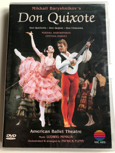 Mikhail Baryshnikov's Don Quixote DVD 1983 American Ballet Theatre / Directed by Biran Large / Music by Ludwig Minkus / Orchestrated and arranged by Patrick Flynn / NVC Arts (706301939925)
