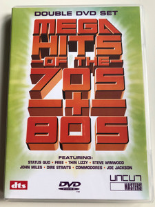 Mega hits of the 70s + 80s Double DVD SET 2003 Featuring: Status Quo, Free, John Miles, Dire Straits, Joe Jackson / Uncut Masters / CutX1011 / Stunning collection of classic music videos (801735401182)