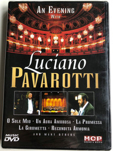 An evening with Luciano Pavarotti DVD O Sole mio, Un Aura Amorosa, La Promessa and many others / MCP Sound & Media (9002986611400)