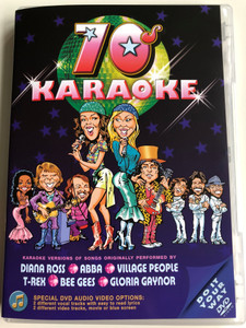 70s karaoke DVD 2003 Karaoke versions of songs originally performed by Diana Ross, Abba, Village People, Bee Gees, Gloria Gaynor / Dancing queen, I will survive, In the Summertime / Special audio and visual options (5014293271257)
