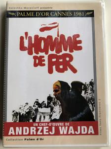 L'Homme de fer DVD 1981 Człowiek z żelaza (Man of Iron) / Directed by Andrzej Wajda / Starring: Jerzy Radziwilowicz, Krystyna Janda, Marian Opania (3760019381145)