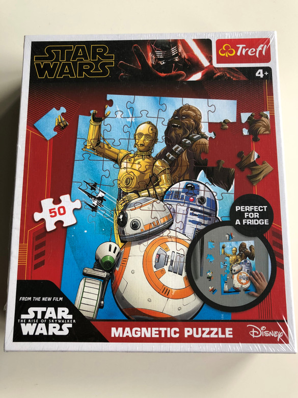Star Wars Trefl Magnetic Puzzle / Perfect for a fridge / 50 pieces / From the New Film - The Rise of Skywalker / Trefl Puzzle / Ages 4+ (5900511909098)