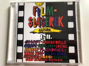 Filmslágerek Magyarul I.-II. / Ghost, Emmanuelle, Grease, Robin Hood, Coctail, Madmax, Flashdance, Young Ones, The Big Bang, Mermaids, La Bamba, 9 1/2 Weeks, Good Morning Vietnam / ‎Audio CD 1992 / Top Movie Soundtracks in Hungarian Language