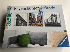 Ravensburger Puzzle 3x500 / Wall decorations times three / Premium Puzzle - Softclick technology / 3 bags of 500 pieces, poster (4005556199235)