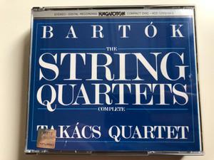Bartók - The String Quartets (Complete) / Takács Quartet / Hungaroton 3x Audio CD 1995 Stereo / HCD 12502-04-2