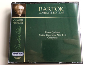 Bartok Complete Edition / Chamber Works II. / Piano Quintet, String Quartets, Nos 1-6, Contrasts / Hungaroton Classic 3x Audio CD 2000 Stereo / HCD 31895-97