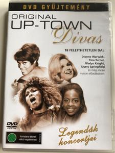 Original Up-Town Divas DVD Dionne Warwick, Tina Turner, Gladys Knight, Dusty Springfield / 18 Felejthetetlen dal / Legendák koncertjei DVD gyűjtemény / Movie Mover (5998388302173)