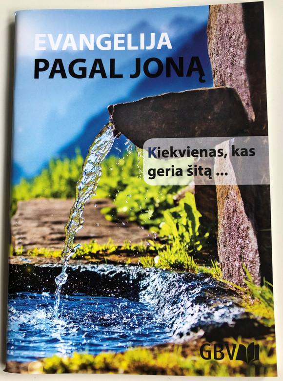 Evangelija pagal Joną / Lithuanian Gospel according to John / Gute Botschaft Verlag 2017 / GBV 35304 / Paperback / Great for Evangelism (9783866987326)