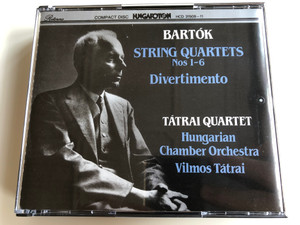 Bartók - String Quartets Nos. 1-6, Divertimento / Tátrai Quartet, Hungarian Chamber Orchestra, Vilmos Tatrai / Hungaroton 3x Audio CD 1992 Stereo / HCD 31509-11