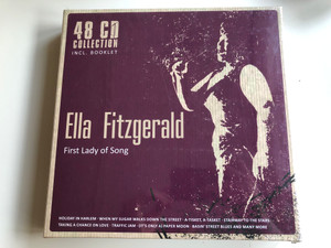 Ella Fitzgerald – First Lady Of Song / 48 CD Collection Incl. Booklet / Holiday In Harlem, When My Sugar Walks Down The Street, A-Tisket, A-Tasket, Stairway To The Stars, Taking A Chance On Love, Traffic Jam / Documents 48x Audio CD / 233881