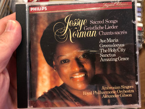 Jessye Norman – Sacred Songs / Ave Maria, Greensleeves, The Holy City, Sanctus, Amazing Grace / Ambrosian Singers, Royal Philharmonic Orchestra, Alexander Gibson / Philips Audio CD / 400 019-2