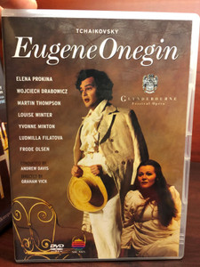 Tchaikovsky - Eugene Onegin DVD Glyndebourne Festival Opera / Directed by Graham Vick / Conducted by Andrew Davis / Elena Prokina, Martin Thompson, Louise Winter, Yvonne Minton (0706301401422)