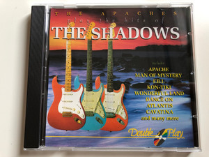 The Apaches Play The Hits Of The Shadows / Includes Apache, Man Of Mystery, F.B.I., Kon-Tiki, Wonderful Land, Dance On, Atlantis, Cavatina, and many more / Double Play / Tring International PLC Audio CD / GRF204