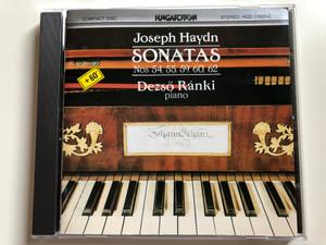 Joseph Haydn - Sonatas Nos 54, 55, 59, 60, 62 / Dezso Ranki - piano / Hungaroton Audio CD 1976 Stereo / HCD 11625-2