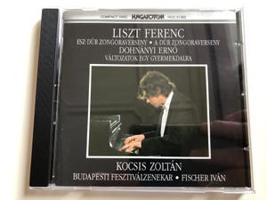 Liszt Ferenc - Esz-Dúr Zongoraverseny, A-Dúr Zongoraverseny / Dohnányi Erno: Változatok Egy Gyermekdalra / Kocsis Zoltán, Budapesti Fesztiválzenekar, Fischer Ivan / Hungaroton Audio CD 1990 Stereo / HCD 31362