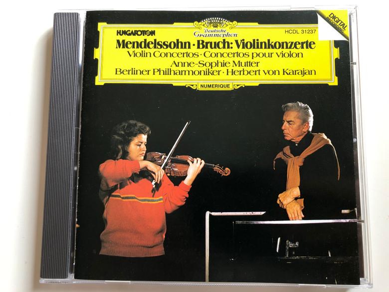 Mendelssohn, Bruch: Violinkonzerte / Violin Concertos=Concertos pour violin / Anne-Sophie Mutter, Berliner Philharmoniker, Herbert von Karajan / Deutsche Grammophon Audio CD 1981 Stereo / HCDL 31237