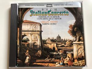 Bach - Italian Concerto / Partita In B Minor, Concerto in D minor / Miklos Spanyi - harpsichord / Hungaroton Audio CD 1987 Stereo / HCD 12780-2