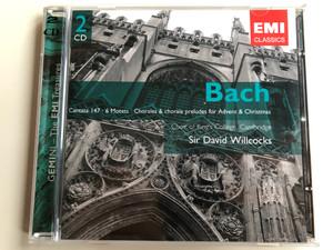 Bach – Cantata No. 147 / 6 Motets, Chorales & Chorale Preludes For Advent & Christmas / Choir Of Kings' College, Cambridge, Sir David Willcocks / Gemini - The EMI Treasures / EMI Classics 2x Audio CD 2004 / 724358605228