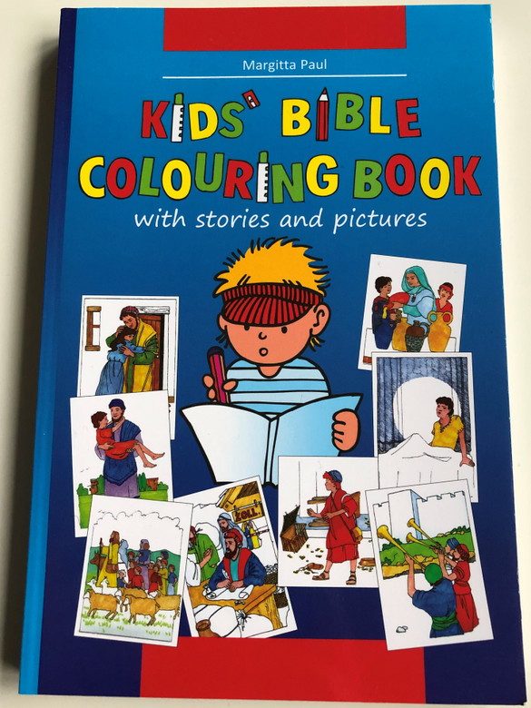 Kids Bible Colouring Book by Margitta Paul / With Stories and pictures / Paperback / Christliche Verlagsgesellschaft 2016 / Illustrations by Eberhard Plutte, Cornelia Gerhardt (9783894368425)