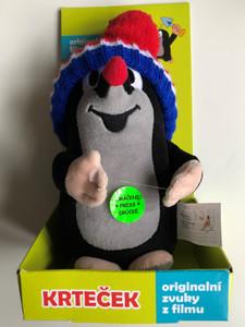 Krtek - Talking Little mole with Tricolor Cap - plush toy with original film sounds / Krteček - Originální filmové zvuky - Krtek 20cm mluv., m-t.kulich / Age 1+ / The Most favourite Czech animated character / Der kleine Maulwurf / 20cm (8590121501620)
