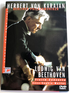 Herbert von Karajan - Ludwig van Beethoven - Violin Concerto DVD 1990 / Berliner Philharmoniker - Anne-Sophie Mutter / Recorded 18-24 february 1984 / SVD 46385 (5099704638591)