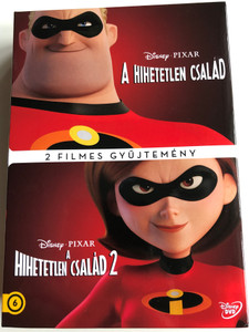 The Incredibles 1 & 2 DVD SET A Hihetetlen család 2 filmes gyűjtemény / Directed by Brad Bird /Starring: Craig T. Nelson, Holly Hunter, Sarah Vowell, Spencer Fox / 2x DVD (5996514051087)
