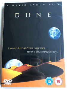 Dune DVD 1984 A World Beyond your experience, beyond your imagination / Directed by David Lynch / Starring: Kyle MacLachlan, Sting, Max von Sydow, Patrick Stewart, Linda Hunt / Sci-Fi Classic (5014293159159)