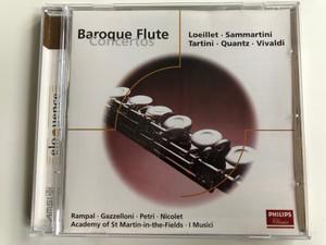 Baroque Flute Concertos - Loeillet, Sammartini, Tartini, Quantz, Vivaldi / Rampal, Gazzelloni, Petri, Nicolet, Academy Of St. Martin-in-the-Fields, I Musici / Universal Audio CD / 468 134-2