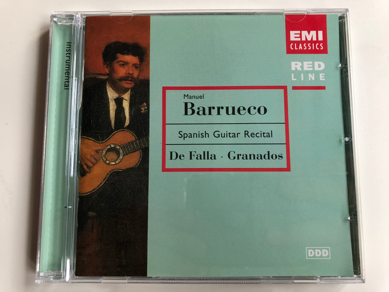 Manuel Barrueco - Spanish Guitar Recital - De Falla, Granados / Emi Classic Audio CD 1997 Stereo / 724356985025
