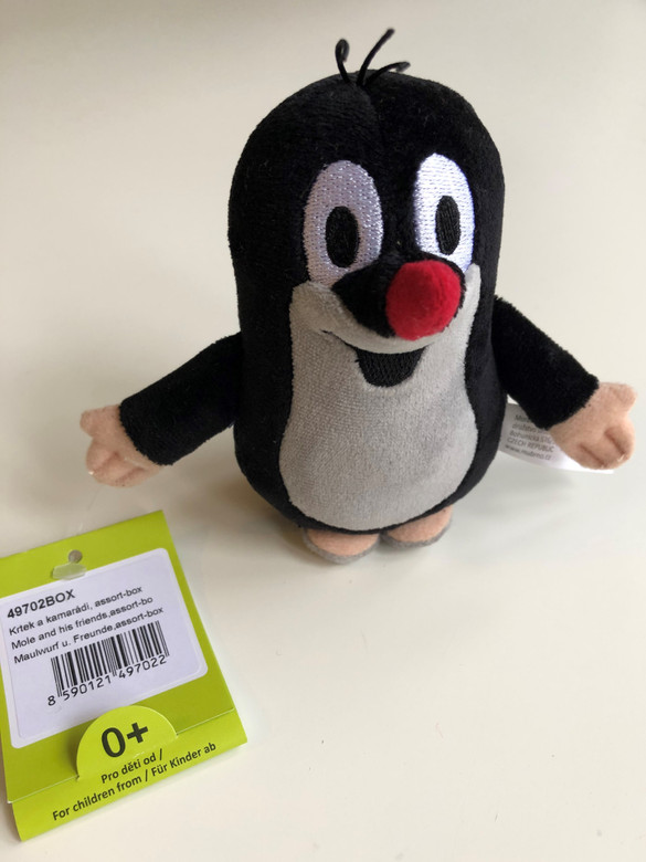 Krtek 10 cm plush toy - The Little mole / Krtek - Maulwurf / Kisvakond / Krteček / Age 0+ / The Most favourite Czech animated character 49702BOX (8590121497022)