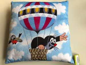 Little Mole Pillow 30x30cm - balloon - Polstar Krtek, balón / Kissen Maulwurf, Ballon / Krteček decorative pillow for boys and girls / Kisvakond a léghajón Párna 99915P (8590121504348)