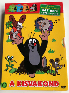 Krtek the Little Mole Full Series DVD SET Kisvakond teljes sorozat / 3 Discs - 447 minutes - 49 episodes / Krteček (5996473015014)