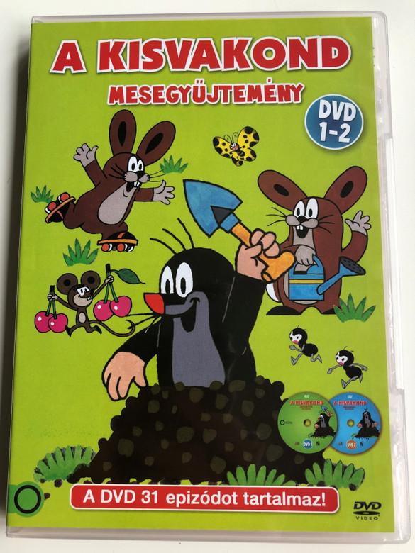 Krtek - Little Mole Volume 1&2 DVD A kisvakond mesegyűjtemény / Created by Zdenek Miler / A DVD 31 epizódot tartalmaz / DVD SET contains 31 episodes / Krteček (5996473009358.)