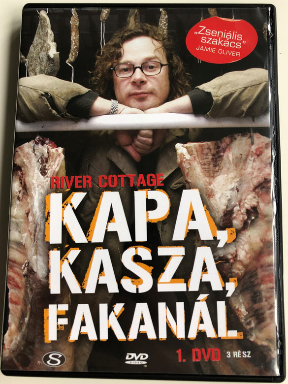 River Cottage Disc 1 DVD 1999 Kapa, Kasza, Fakanál / Directed by Zam Baring, Andrew Palmer, Billy Paulett / Cooking with Hugh Fearnley-Whittingstall / 3 Episodes on Disc (5990502068002.)