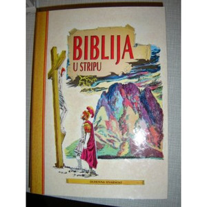 Large Croatian Serbian Picture Bible for All Ages / Biblija U Stripu / Jugoslaviju Edition 1991
