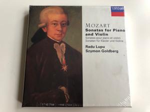 Mozart - Sonatas for Piano and Violin 4x Audio CD Box / Sonates pour piano et violon / Radu Lupu piano, Szymon Goldberg violin / Decca London / 448 526-2 (028944852622)