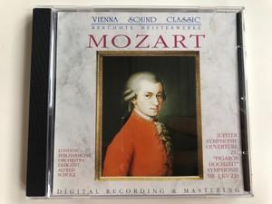 Mozart / London Philharmonic Orchestra, Dirigent: Alfred Scholz / Jupiter Symphonie Ouverture Zu ''Figaros Hochzeit'' Symphonie Nr. 1 KV 216 / Vienna Sound Classic (Berühmte Meisterwerke) Audio CD Stereo / CD 155.012